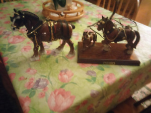 Lamp and single Clgdesdales Horses