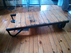 Coffee table vintage Warehouse trolley