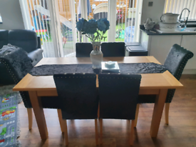 6 seater diner in table and chairs