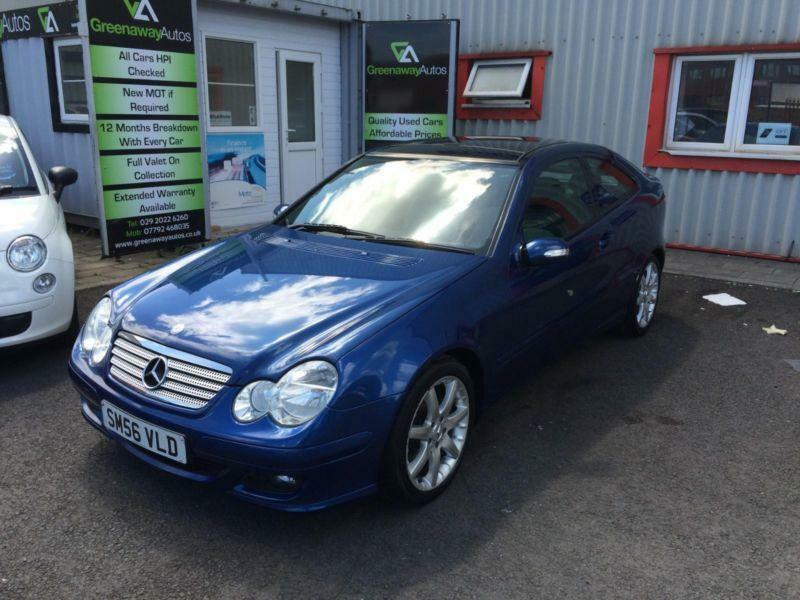 2006 mercedes c class c180 kompressor se sports pan roof full leather coupe petr in cardiff - Mercedes c class kompressor coupe ...