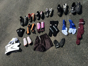 Soccer cleats, baseball cleats, rugby, lacross cleats