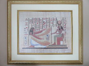 EGYPTIAN  COLLECTIONS & Large Frame picture