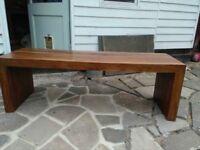 Long john dining table