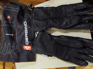 gerbing heated motor cycle gloves with on/off switch.