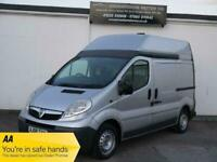 VIVARO 2.0 2900 CDTI SWB HIGH TOP ROOF SILVER WORKSHOP CAMPER RACE DAY PANEL VAN