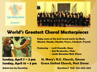 Lynn Valley Voices Concert-World's Greatest Choral Masterpieces