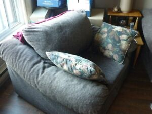ARMCHAIR AND MATCHING LARGE 3 SEATER COUCH