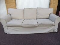 Gray IKEA EKTORP sofa free London delivery