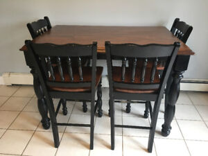 Pub Style Dining Table and Barstools