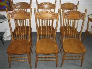 Anitque Press Back Chairs