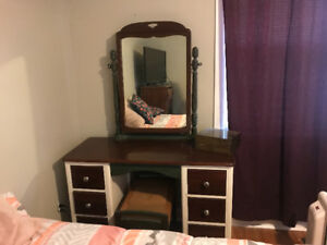Vintage solid wood vanity