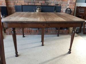 Antique Dining Room table and chair set -walnut