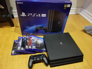 PS4 Pro 1TB with games