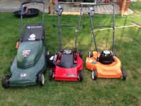 2 Black And Decker Electric Lawn Mowers