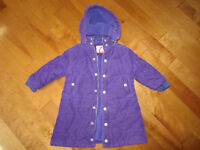 3T Purple corduroy girls coat