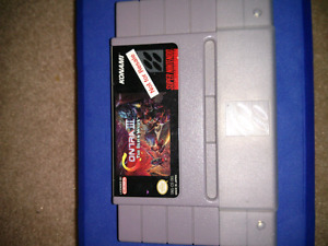 Contra 3 for SNES Super Nintendo with rare Not For Resale label!