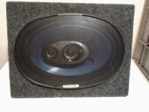 Pair of Alpine Speakers in wedge box.