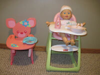 High Chairs with doll