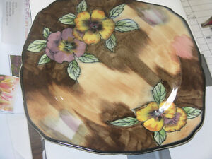 hand painted plate by H&K Tunstall