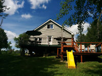 WATERFRONT 3 SEASON COTTAGE FOR SALE ON LAC MARCELIN, QUEBEC