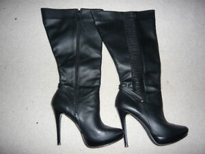 5 inch high new boots (2 pairs)