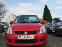 Suzuki Swift GL a red 3 Door petrol hatchback