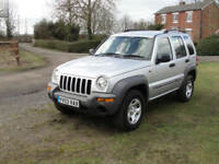 2003 JEEP CHEROKEE 2.4 SPORT 4X4 - FSH - MOT MARCH 2019 - LOW MILES @69K -
