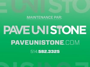 UNISTONE RELEVEL - UNISTONE CLEANING - PAVE_UNI STONE .COM - West Island Greater Montréal image 3