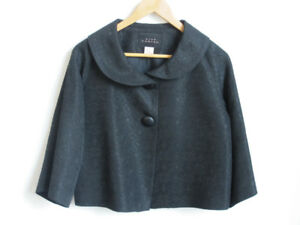 PINK TARTAN Womens Black Short Blazer Jacket Small