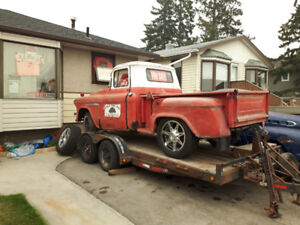 PROJECT 2nd GEN. `55 CHEVY SHORT BOX STEP SIDE !!! $2950 TRADES