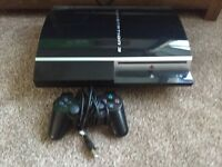 PlayStation 3 with one controller and 7 games