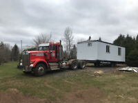 Mobile home levelling and transport