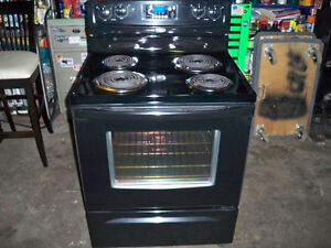 NEWER BLACK WHIRLPOOL STOVE IN GREAT SHAPE