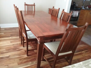 Dining Table with 6 Chairs- Solid Teak
