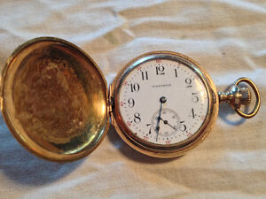 Antique Waltham Cashier Ladies Pocket Watch AWC Co. Gold Filled