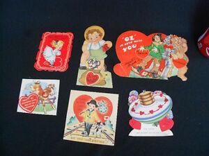 Group Vintage Valentine Cards