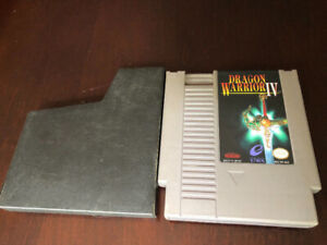 2 NES NINTENDO GAMES, DRAGON WARRIOR 1 AND 4