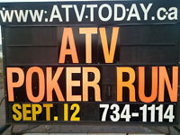 ATV POKER RUN!!  SAT. SEPT 12th!!   HILLSBOROUGH!!