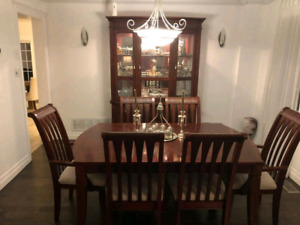 Formal Dining table with Hutch and Buffet.