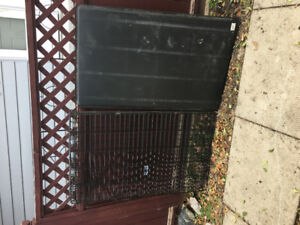 Petmate large wire dog kennel.