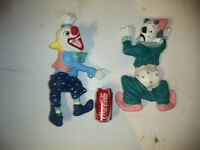2 LARGE CLOWN WALL HANGINGS