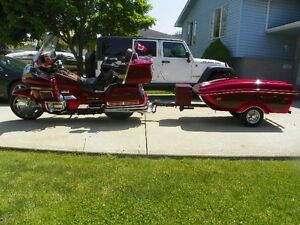 1995 Honda Goldwing with matching Cyclemate Trailer