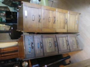 antique oak matching cabinet filling cabinets