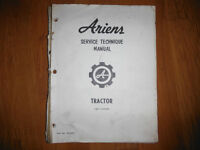 1975 Ariens Tractor Shop Manual 8-16 hp Mowers Tillers Sno-Thro