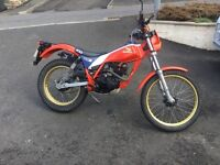 Honda TLR200 four stoke twin shock classic trials bike