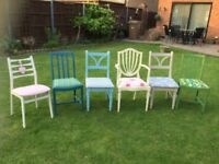 SET OF 6 MISMATCHED DINNING ROOM CHAIRS