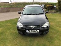 2005 55 Vauxhall Corsa 1.2i 16v SXi TwinportPetrol Black 3 Door NEW MOT WITH CAR