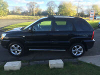 59 KIA SPORTAGE 4WD 2.0 XS 4X4 69000 MILES BLACK LEATHER FSH AWD