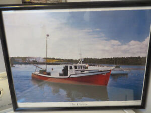 Framed Print---Fishing Boat ''The Curlew''---Eastern Passage