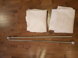 Pottery barn blackout curtain panels and rod